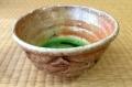 Shino glazed chawan