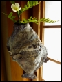 掛け花入 fish hanging vase