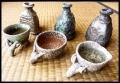 Shigaraki sake vessels