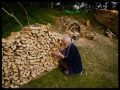 stacking wood