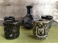 Sake vessels - tokkuri and guinomi