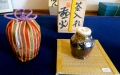 tea caddy & silk brocade