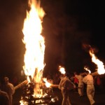 lighting the torches