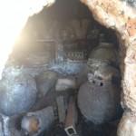 kuchikiri - opening the kiln